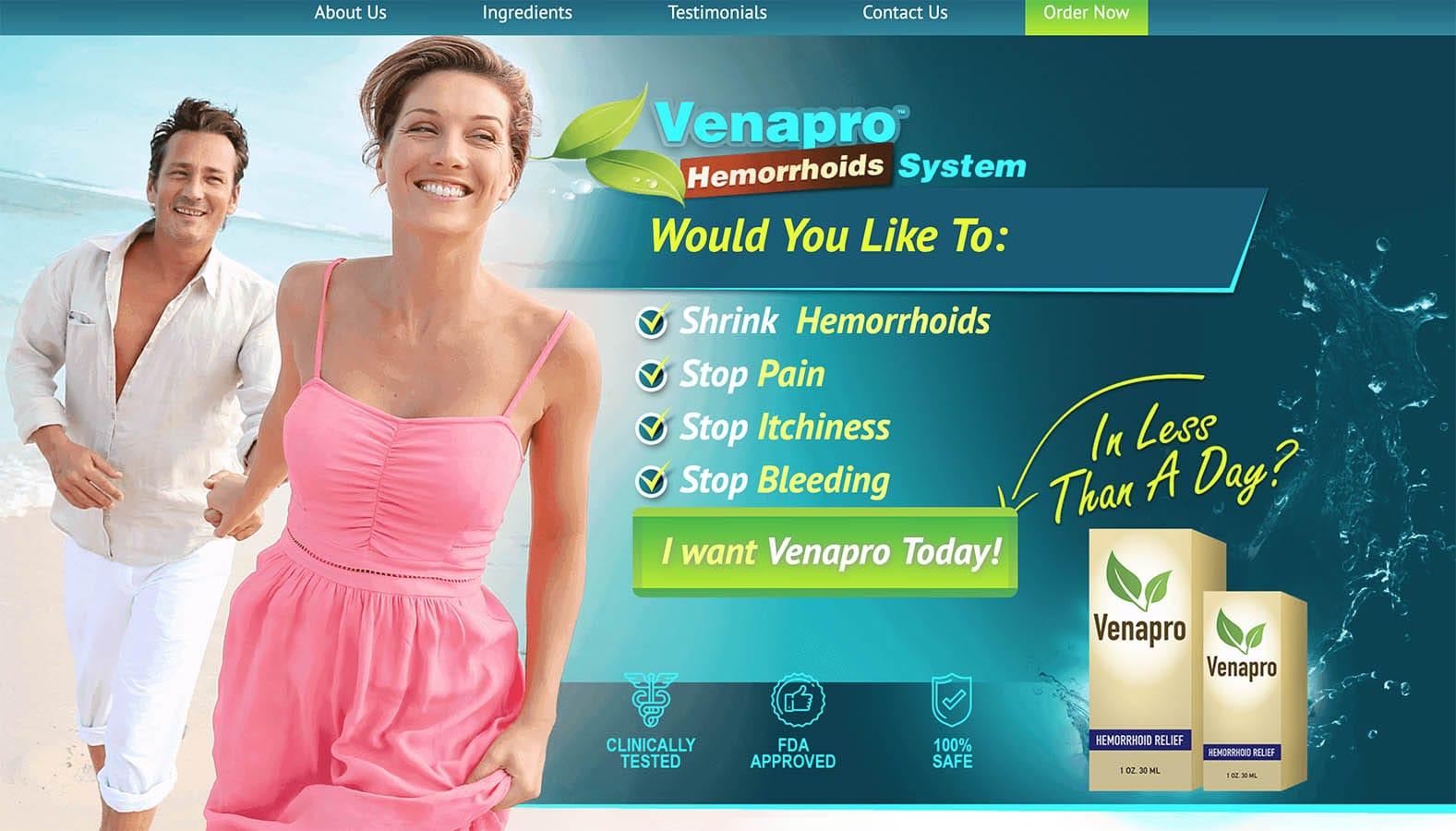 venapro in uk ireland website