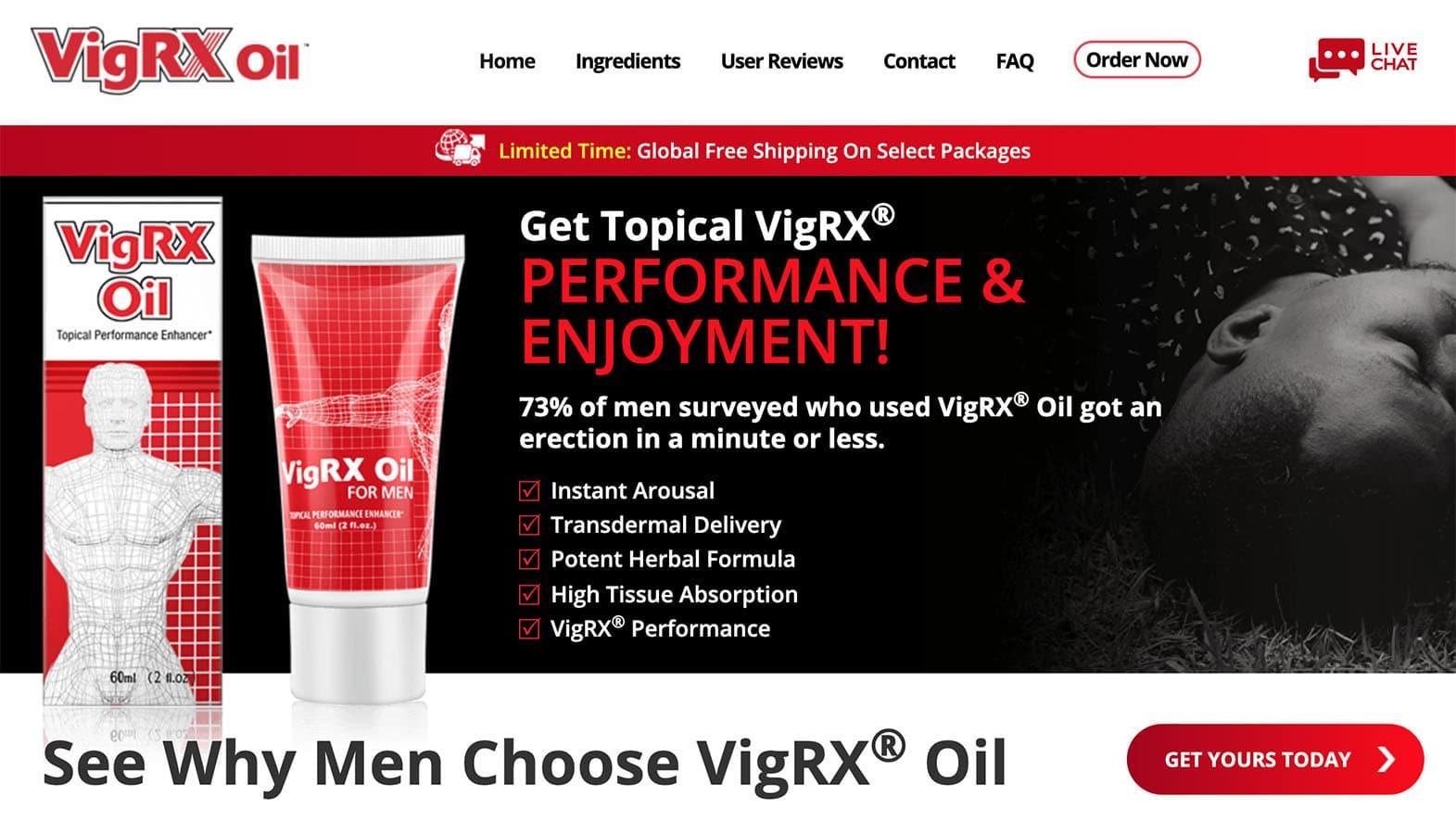 VigRX Oil UK Website