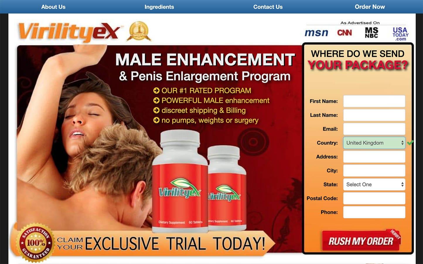 virility ex uk, ireland website